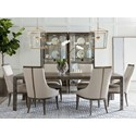 A.R.T. Furniture Inc Geode 7-Piece Ridge Dining Table Set - Item Number: 238220-2303+6x238206