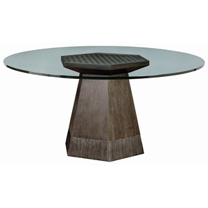 "A.R.T. Furniture Inc Geode Bluff Dining Table w/ 54"" Glass Top"