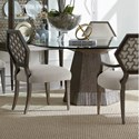 Compositions Geode 5-Piece Bluff Dining Table Set - Item Number: 238224-230360+2x238207+2x238206