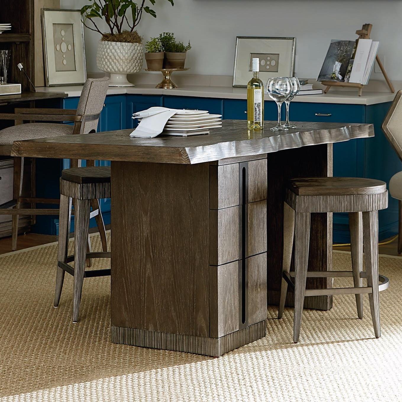 Kitchen Set Island: A.R.T. Furniture Inc Geode 3-Piece Mineral Kitchen Island