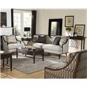 A.R.T. Furniture Inc Harper - Mineral Transitional Exposed Wood Frame Accent Chair in Ogee Fabric - 161503-5036AA