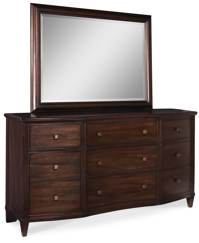 A.R.T. Furniture Inc Intrigue Drawer Dresser & Landscape Mirror - Item Number: 61132-2636+61120-2636
