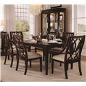 Belfort Signature Bolbrook Sling Back Dining Arm Chair with Marquise Splat - Shown with Wood Back Side Chairs, Display China & Sideboard