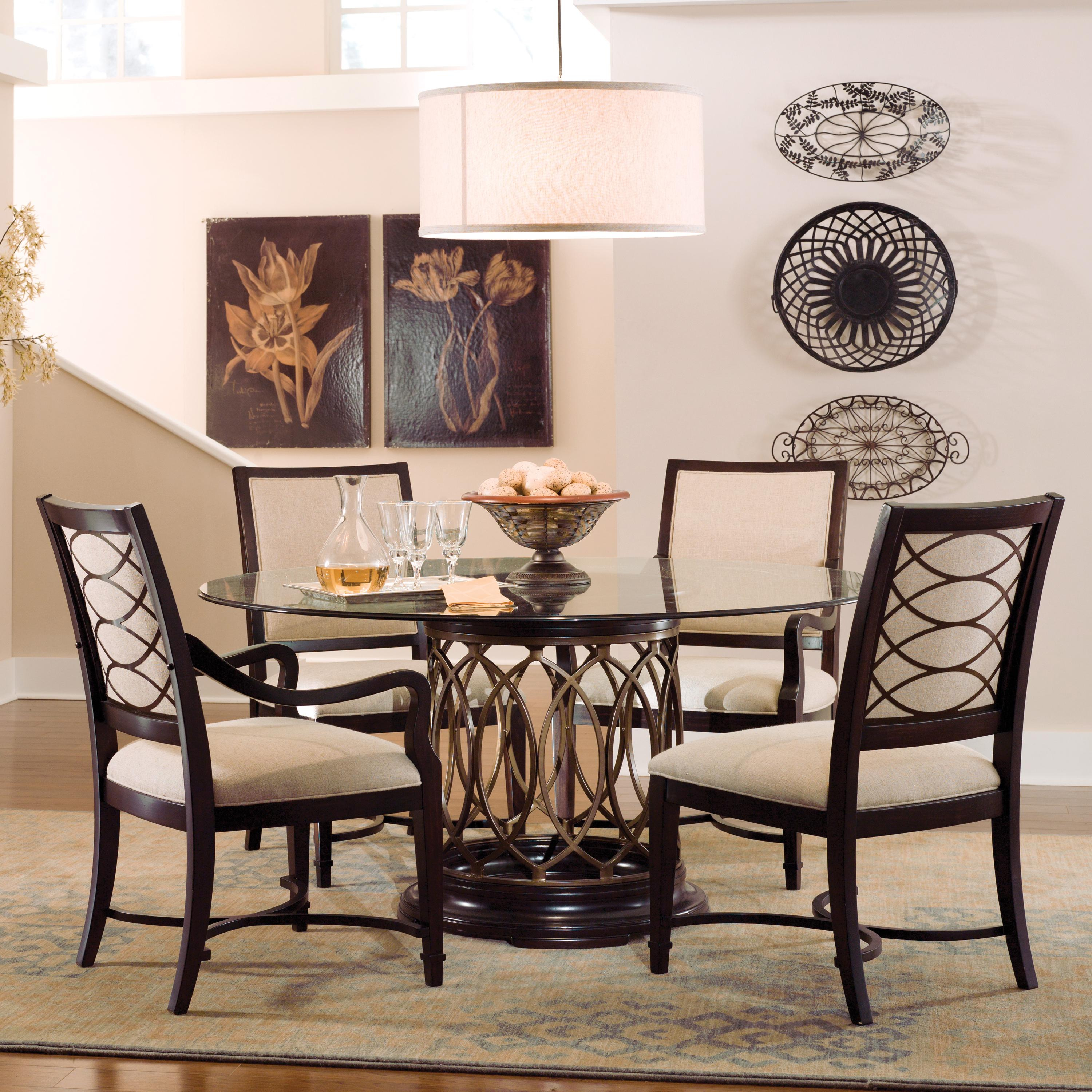 A r t furniture inc intrigue upholstered dining side for A r t dining room furniture