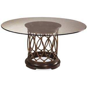 Belfort Signature Bolbrook Round Glass Top Dining Table