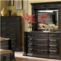 A.R.T. Furniture Inc Marbella Noir 12 Drawer Dresser & Landscape Mirror