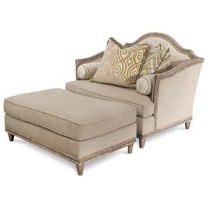 Klien Furniture Monterrey Chair and a Half & Ottoman