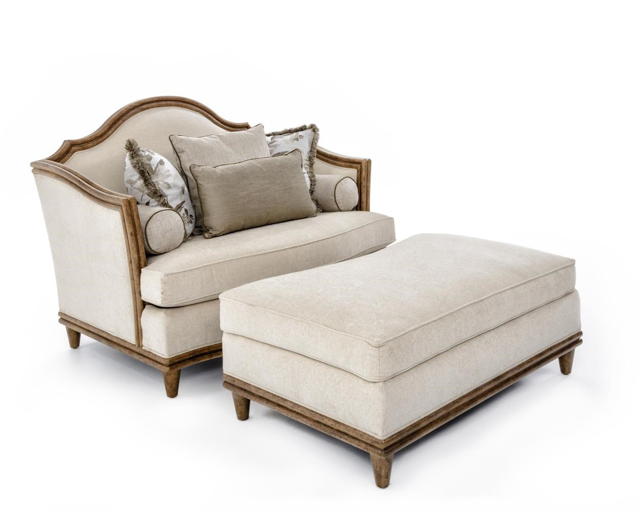 A.R.T. Furniture Inc Monterrey Chair and a Half & Ottoman - Item Number: 529523+529524-5208AA