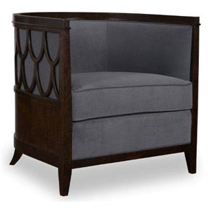 A.R.T. Furniture Inc Morgan Barrel Back Chair with Fretwork