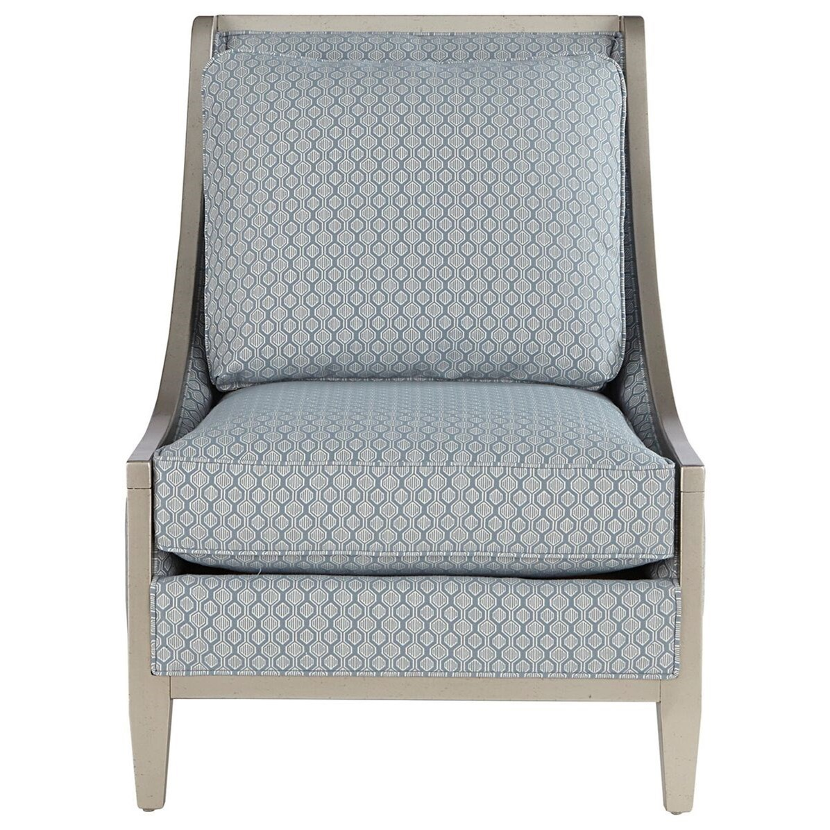 Markor Furniture Morgan Wood Frame Accent Chair With Swoop
