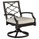 A.R.T. Furniture Inc Morrissey Outdoor Phillips Swivel Dining Rocker - Item Number: 918536-4242