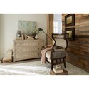 A.R.T. Furniture Inc Palazzo Wing Back Exposed Wood Fabric/Leather Accent Chair