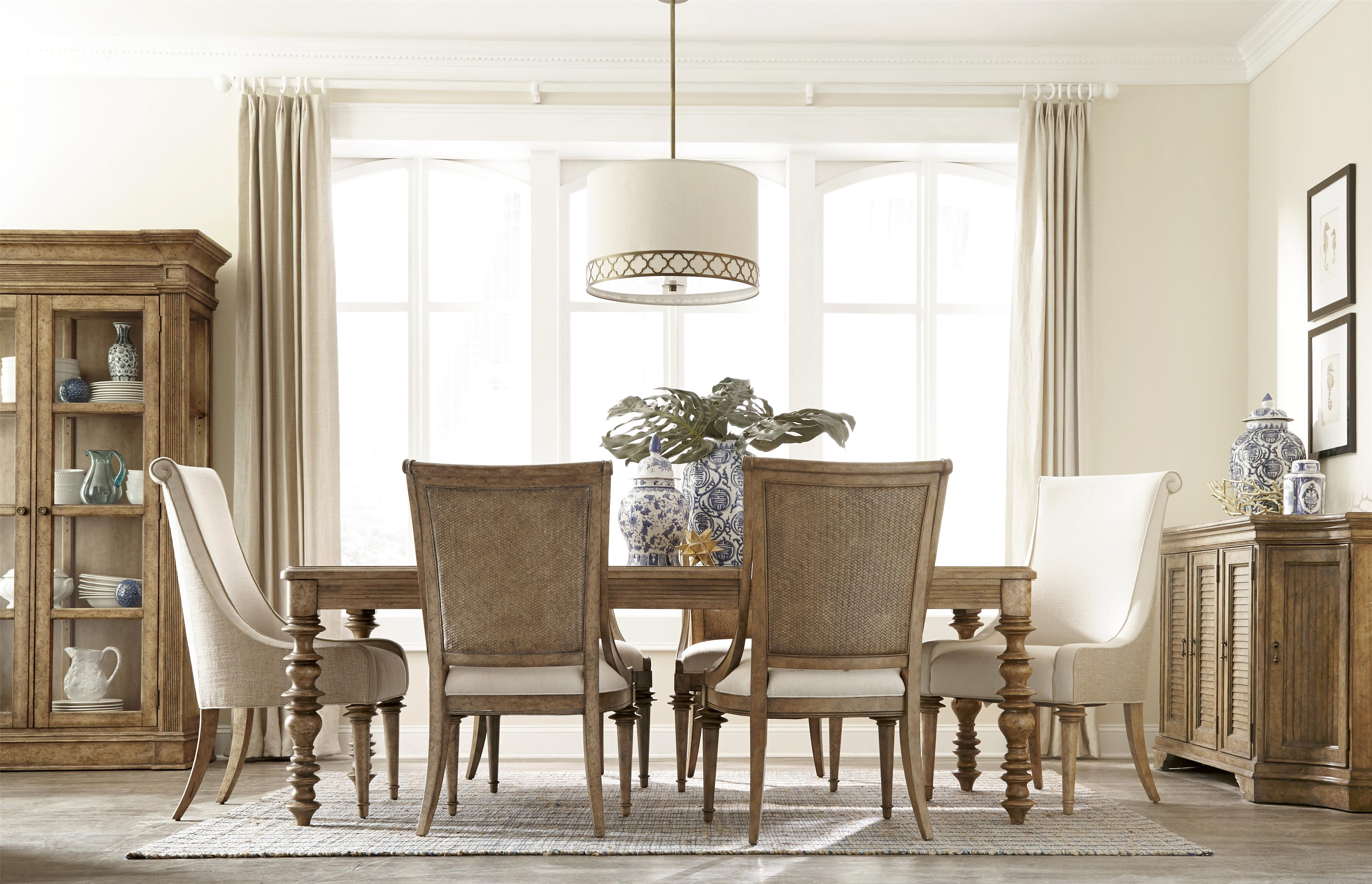 A r t furniture inc pavilion formal dining room group for A r t dining room furniture