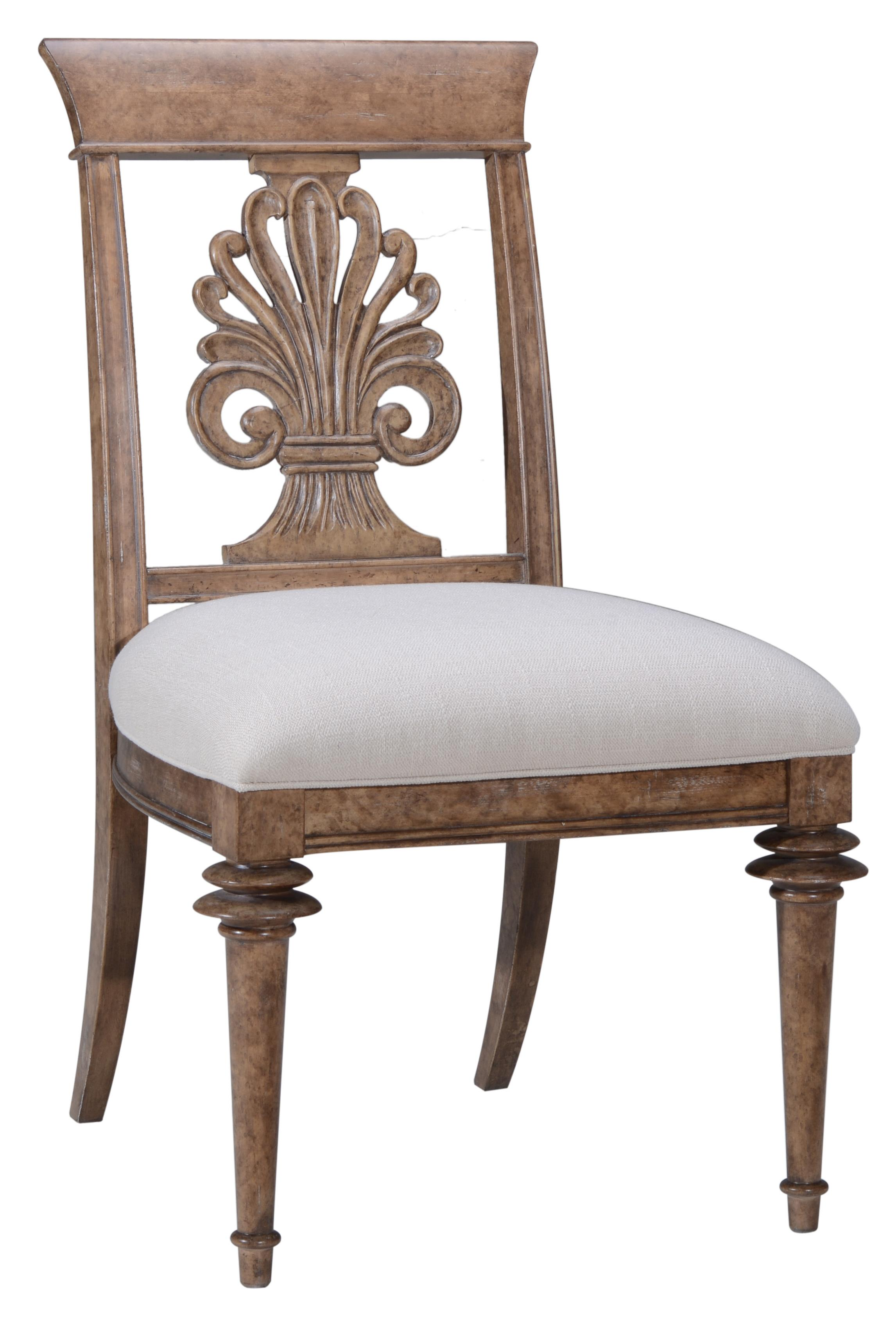 A r t furniture inc pavilion wood back side chair for A r t dining room furniture
