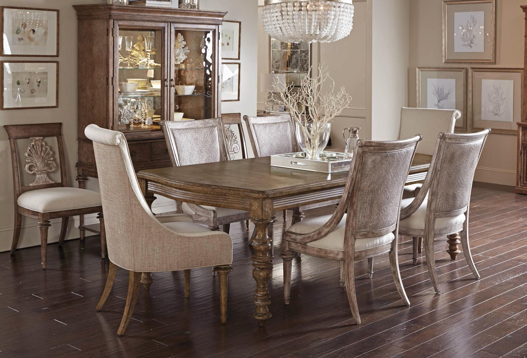 A r t furniture inc pavilion 7 piece leg dining table set for A r t dining room furniture