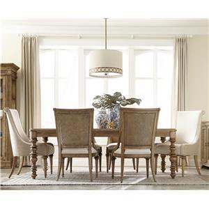 Klien Furniture Pavilion 7-Piece Leg Dining Table Set