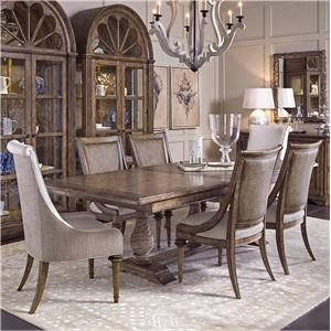 Klien Furniture Pavilion 7-Piece Trestle Table Set