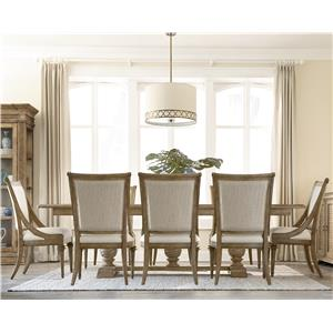 A.R.T. Furniture Inc Pavilion 9-Piece Trestle Table Set