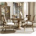 A.R.T. Furniture Inc Pavilion 5-Piece Round Table Set - Item Number: 229225-2608+2x229203+2x229202