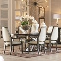 A.R.T. Furniture Inc Prossimo  7-Piece Table and Chair Set - Item Number: 250223-1814+2x250201-1814+4x250200