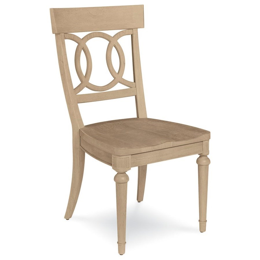 A.R.T. Furniture Inc Roseline Sophie Side Chair with Wood Seat - Item Number: 248204-2302