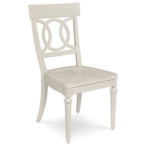 Roseline Sophie Side Chair with Wood Seat by A.R.T. Furniture Inc