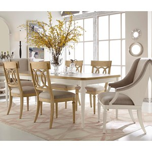 Belfort Signature Elizabeth 7-Piece Lucy Dining Table Set
