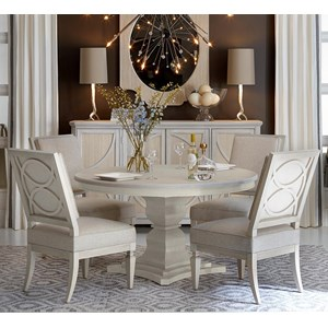 Belfort Signature Elizabeth 5-Piece Enzo Round Dining Table Set