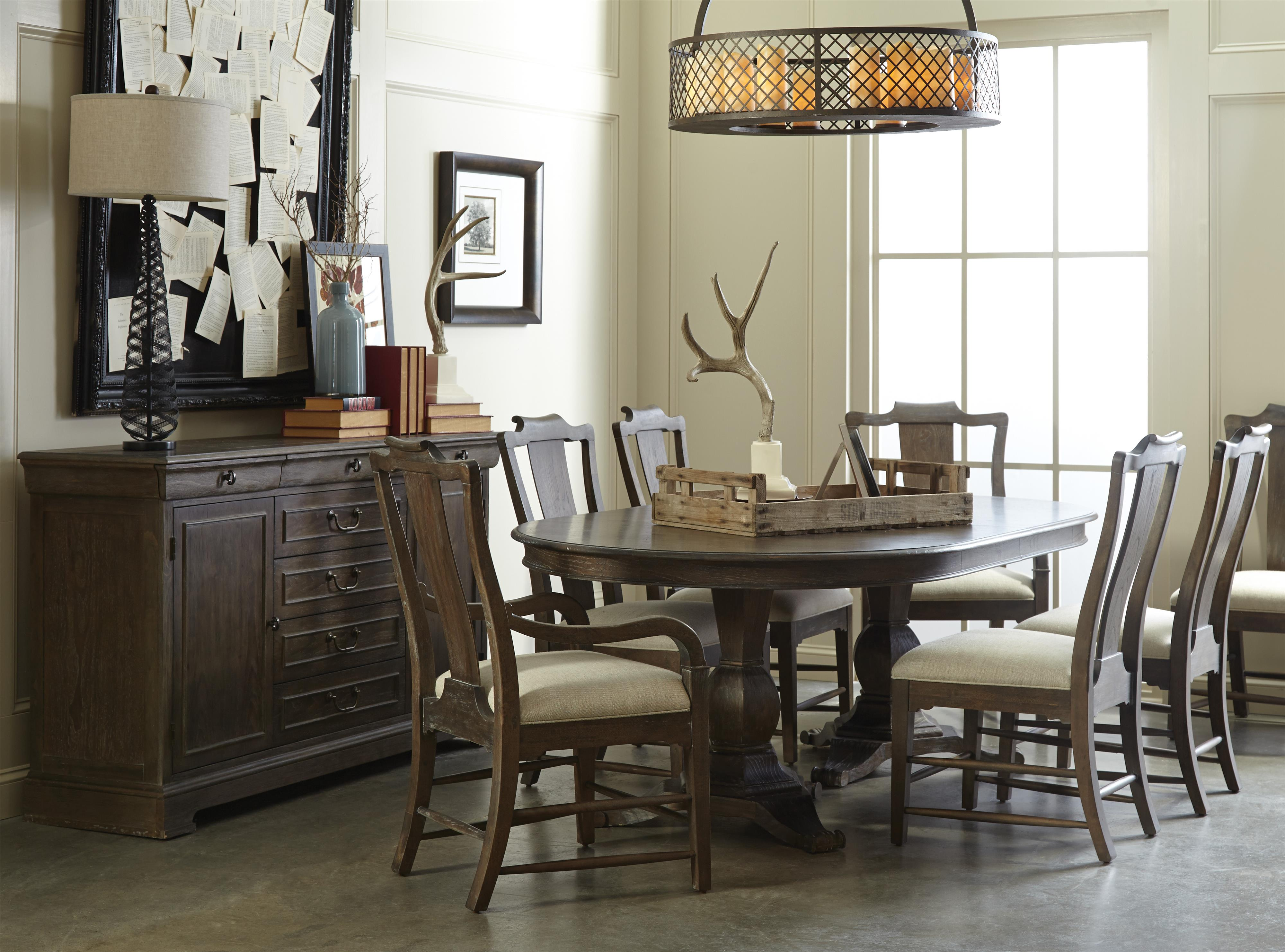A r t furniture inc saint germain formal dining room for A r t dining room furniture