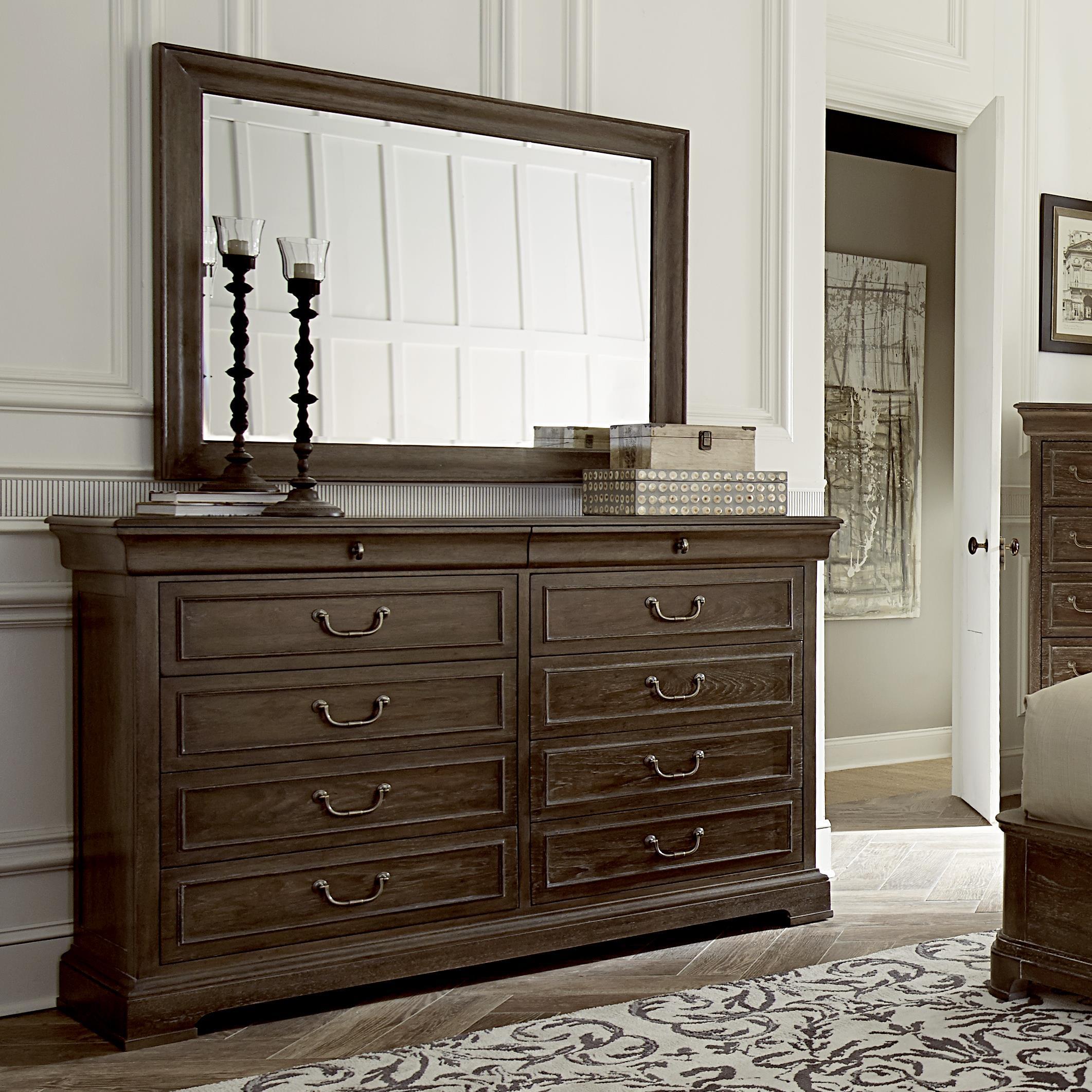 A R T Furniture Inc Saint Germain Dresser Amp Mirror