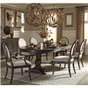 The Great Outdoors Saint Germain 7-Piece Double Pedestal Dining Table Set - Item Number: 215221-1513+2x215203+4x215202