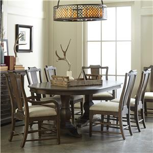 A.R.T. Furniture Inc Saint Germain 7-Piece Double Pedestal Dining Table Set