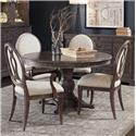 The Great Outdoors Saint Germain 5-Piece Round Dining Table Set - Item Number: 215225-1513+2x215203+2x215202