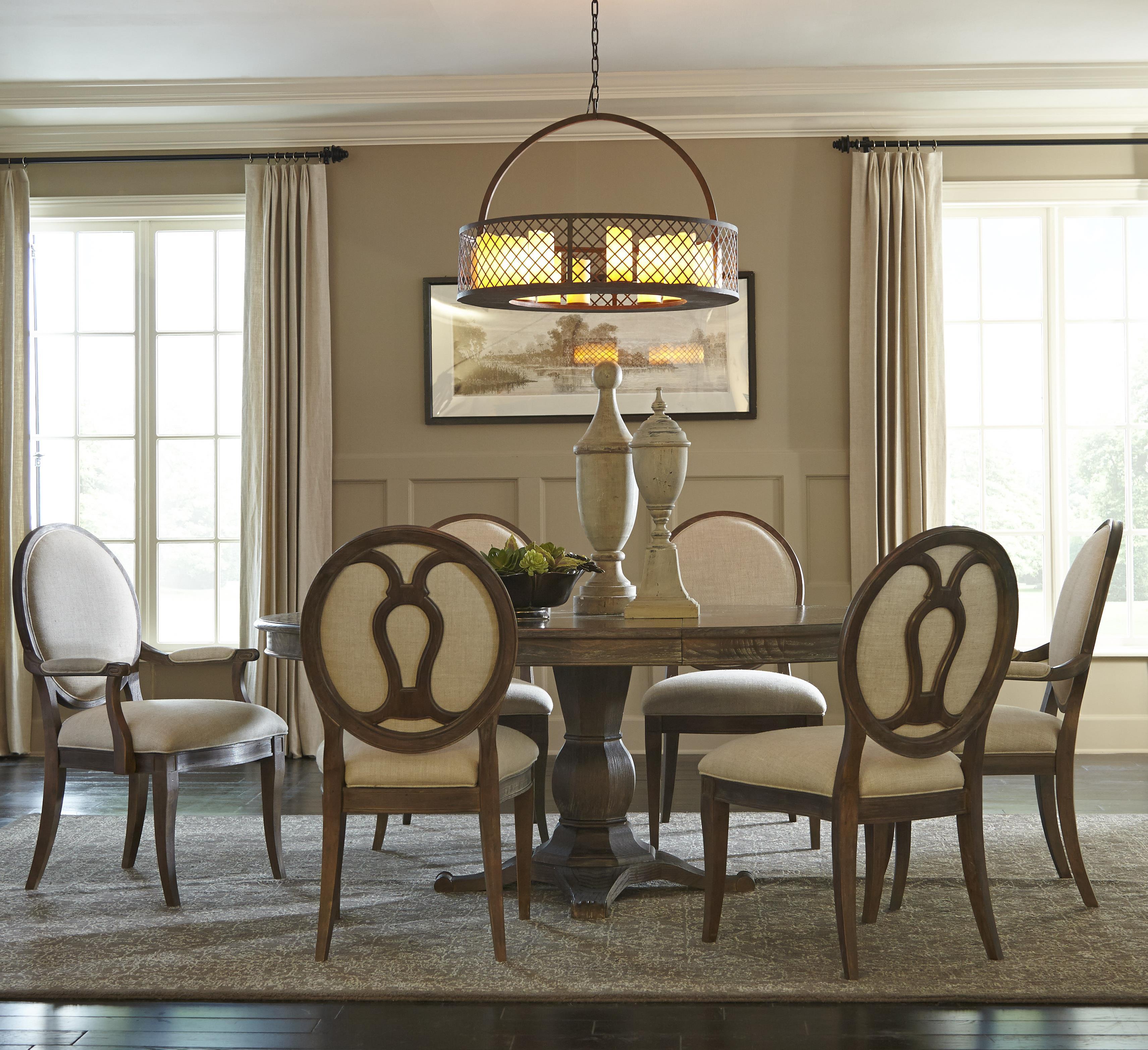 7 Piece Round Dining Table Set: Markor Furniture Saint Germain 7-Piece Round Dining Table