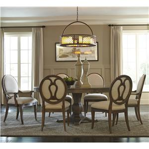 A.R.T. Furniture Inc Saint Germain 7-Piece Round Dining Table Set