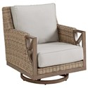 The Great Outdoors Sherwood Outdoor Swivel Rocker Club Chair - Item Number: 951516-4203
