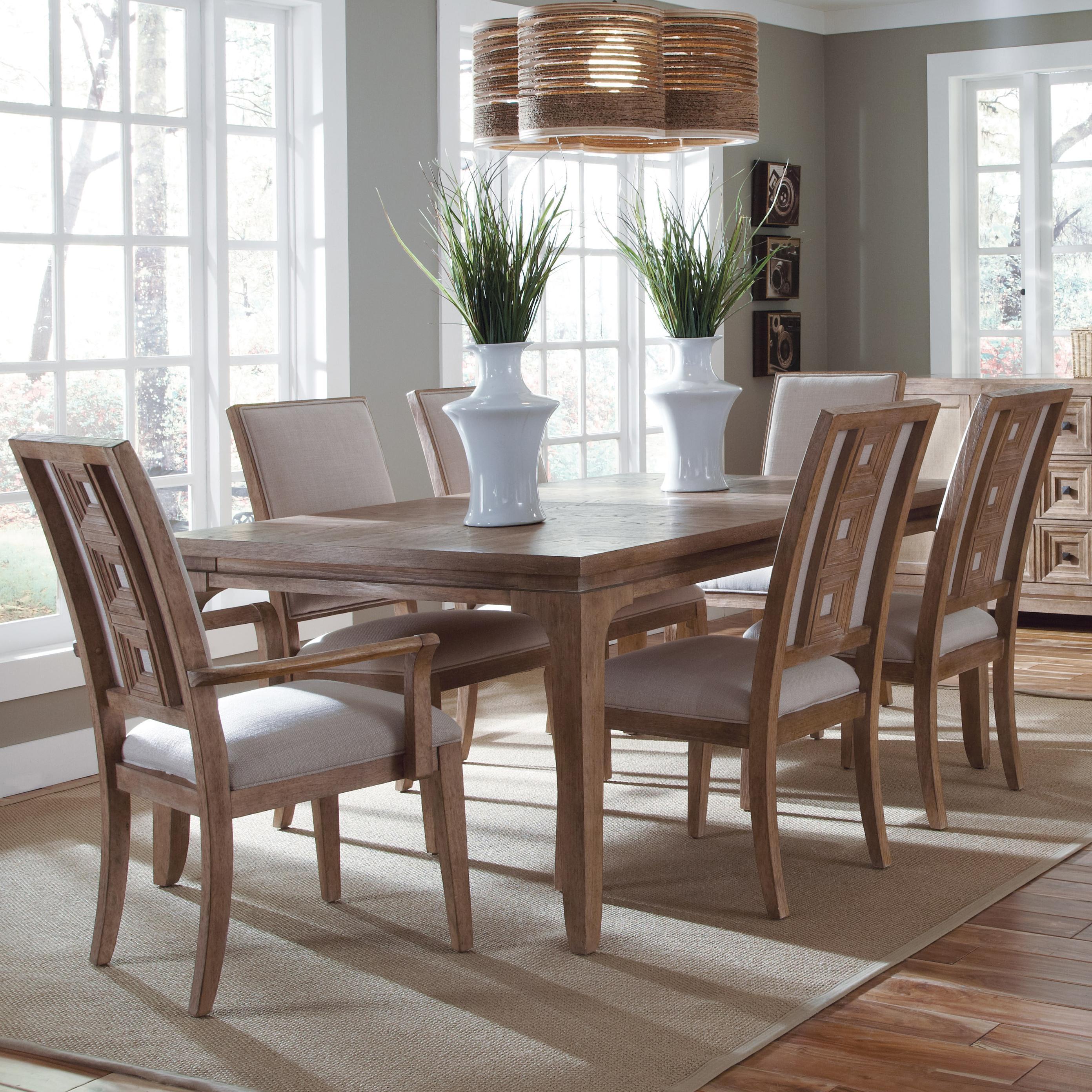 Belfort Signature Madera Leg Dining Table Set - Item Number: 192220-2303+2x192203+4x192202