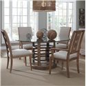 A.R.T. Furniture Inc Ventura Glass Dining Table & Chair Set - Item Number: 192226-2303BS+TP+2x192203+2x192202