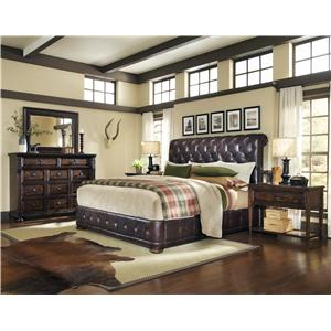 A.R.T. Furniture Inc Whiskey Oak Queen Bedroom Group