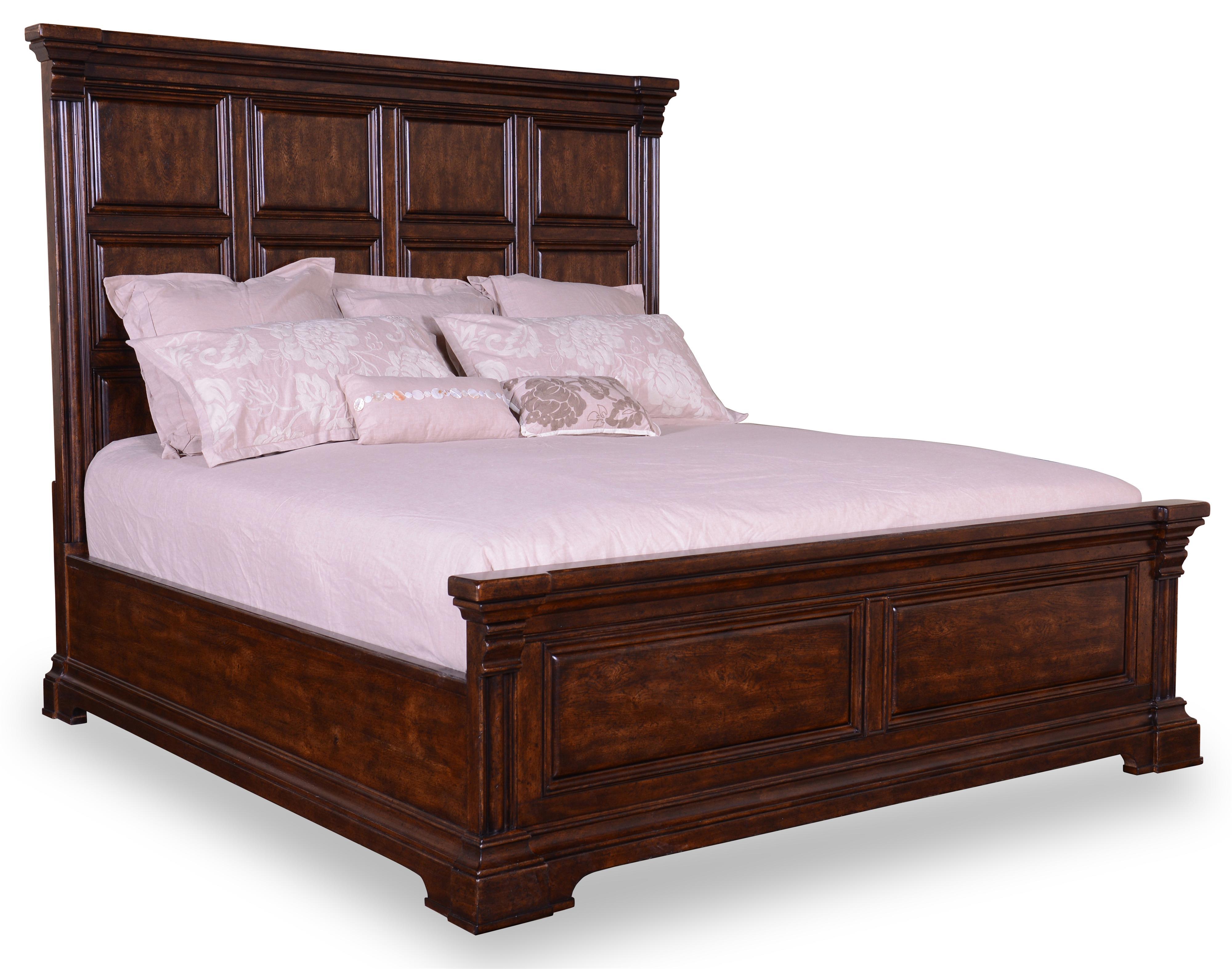 art furniture inc whiskey oak queen panel bed item number 205125 2304hb - Panel Bed Frame