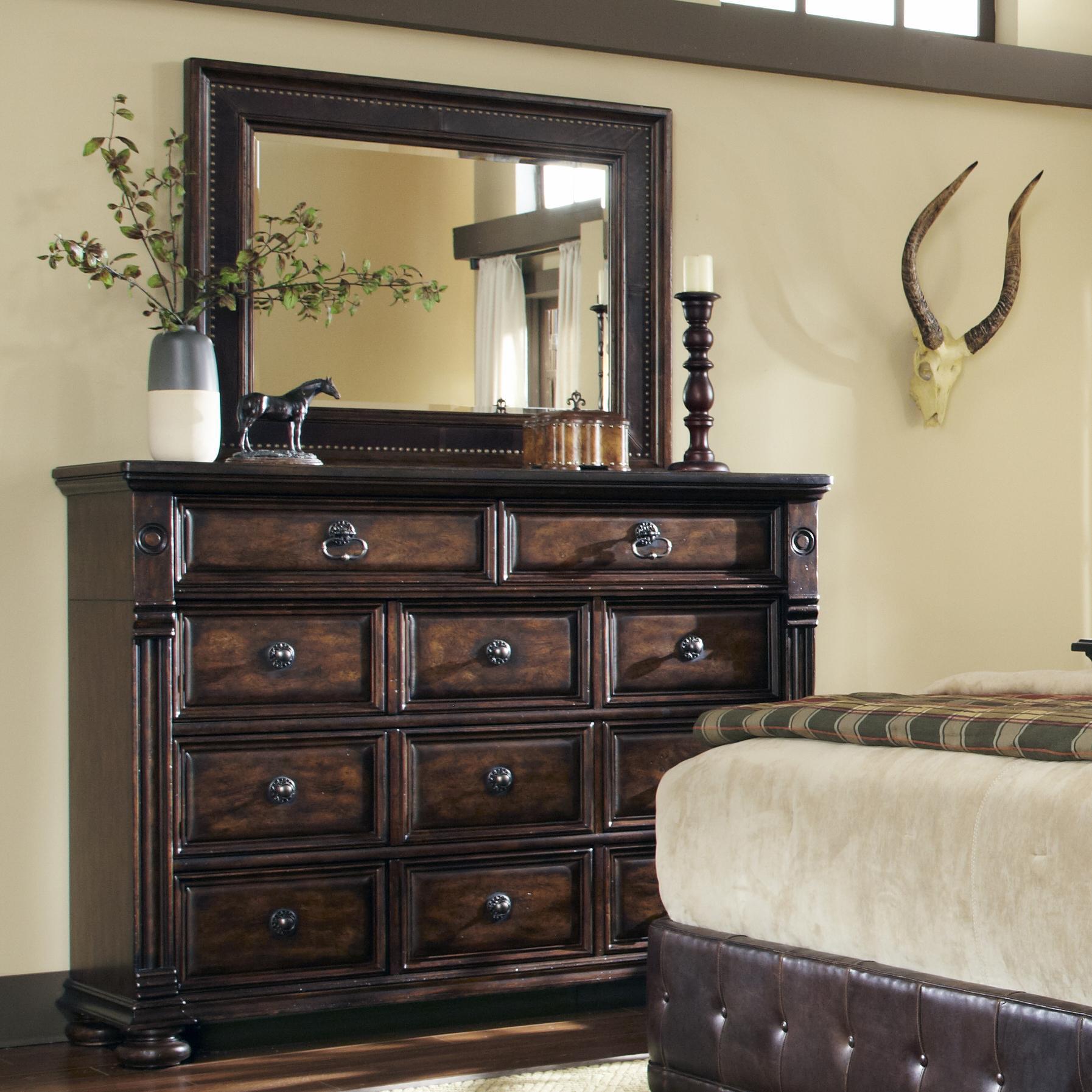 Belfort Signature Belvedere Dresser and Mirror Combo - Item Number: 205131-2304+205120