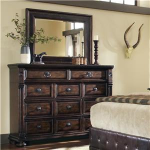 Markor Furniture Riverside Dresser and Mirror Combo