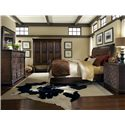 A.R.T. Furniture Inc Whiskey Oak Queen Random-Planked Sleigh Bed - 205155-2304