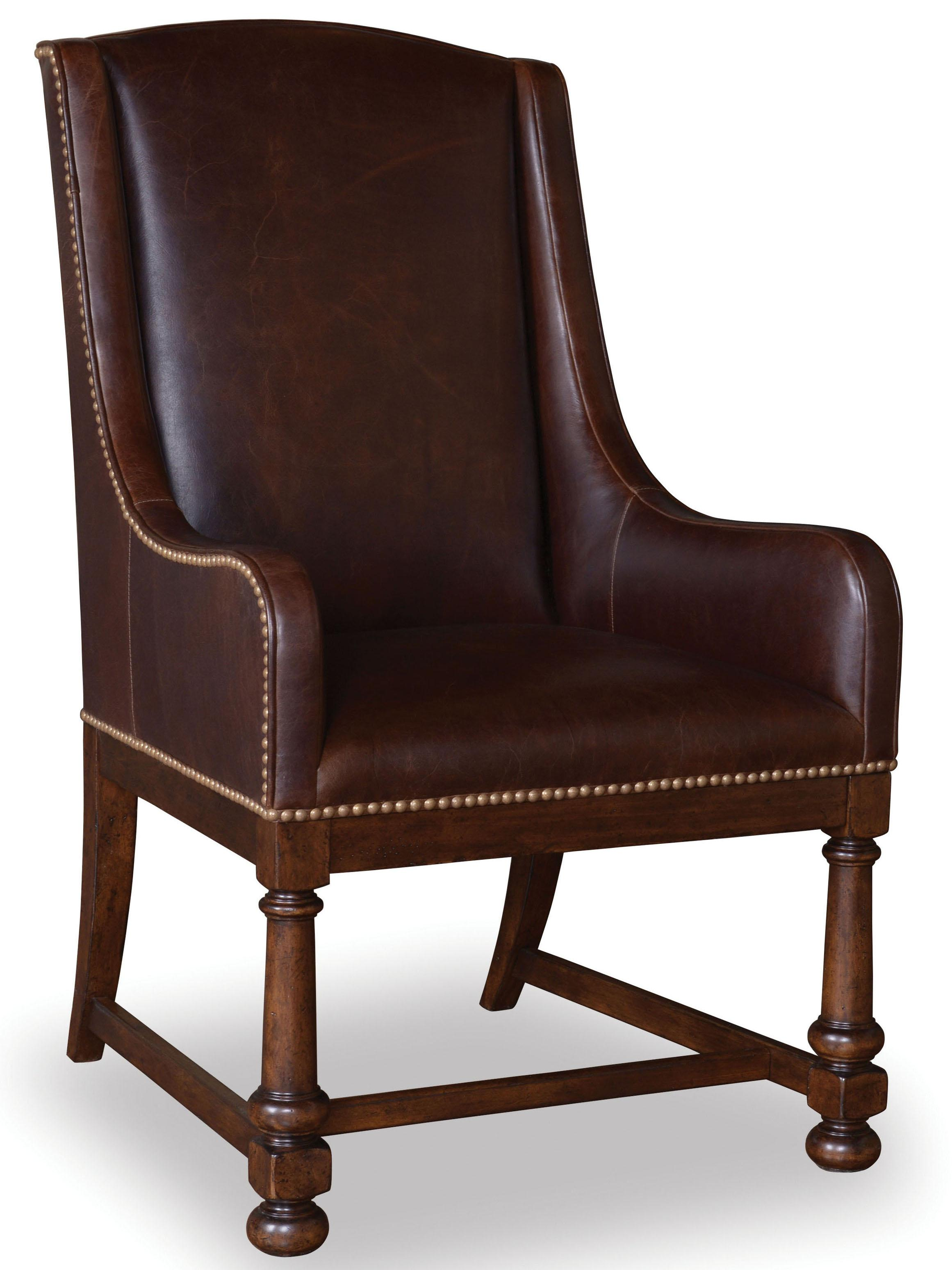 Belfort Signature Belvedere Leather Arm Chair - Item Number: 205200-2304
