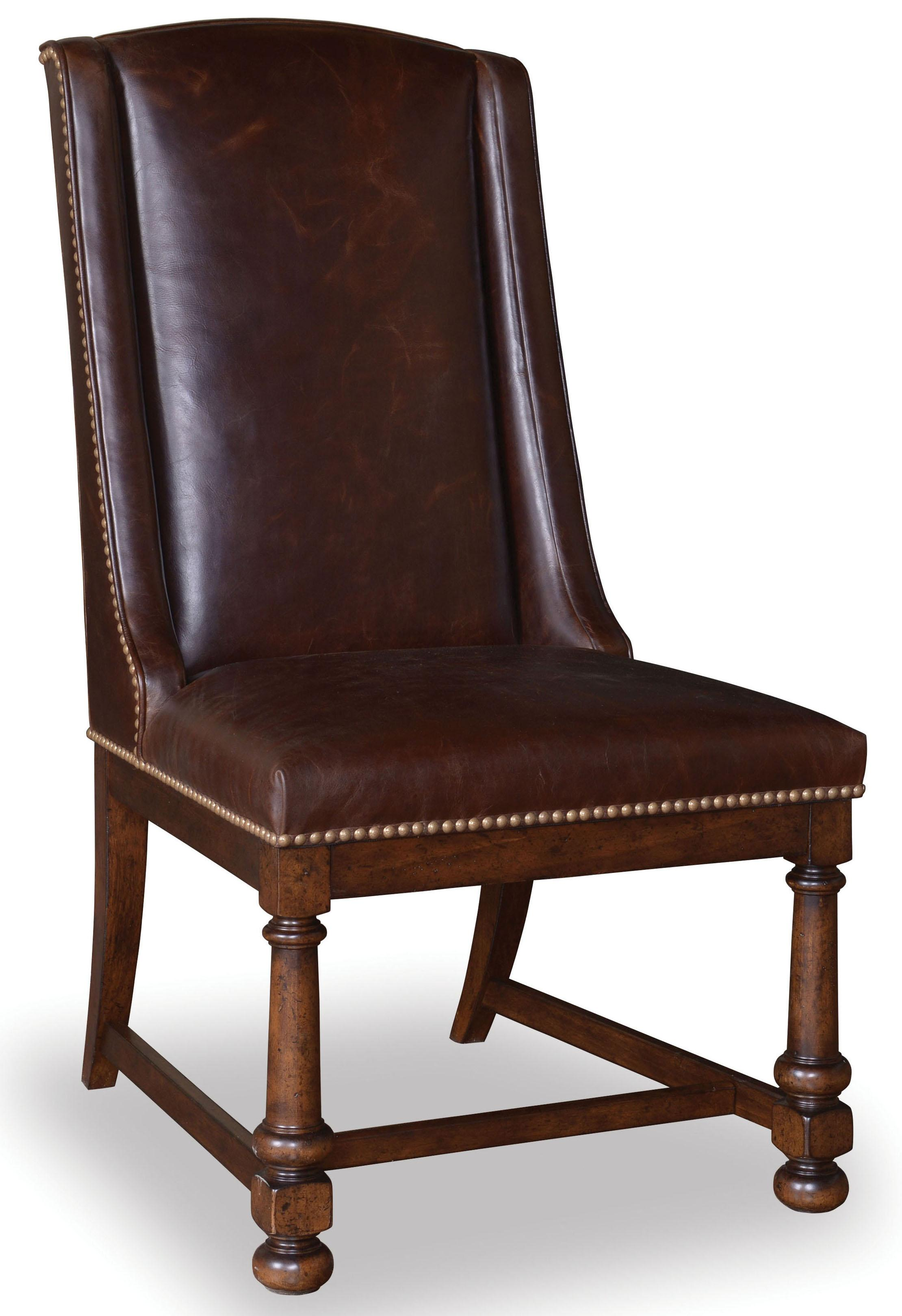Belfort Signature Belvedere Leather Side Chair - Item Number: 205200-2304