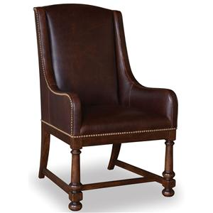 A.R.T. Furniture Inc Whiskey Oak Leather Arm Chair