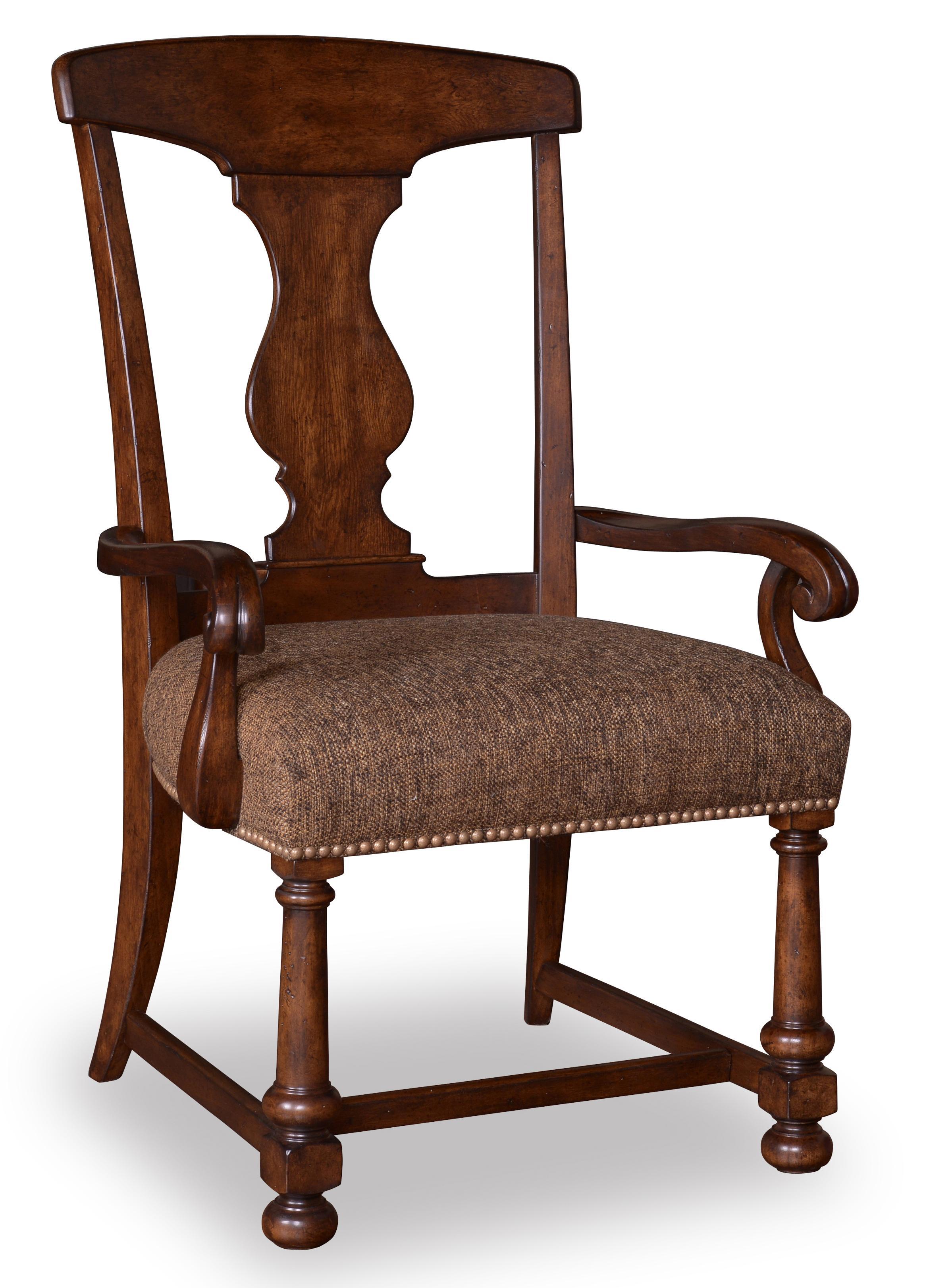 Belfort Signature Belvedere Splat-Back Arm Chair - Item Number: 205205-2304