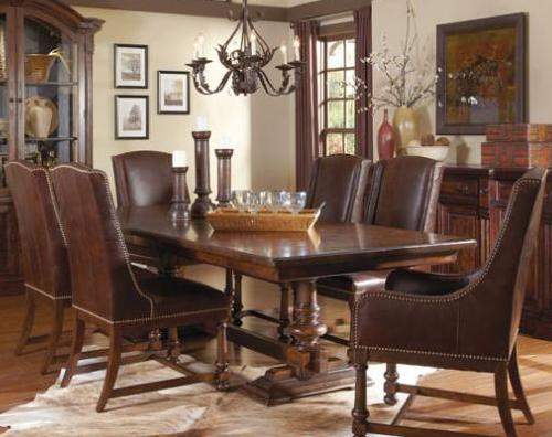 Belfort Signature Belvedere 7-Piece Trestle Dining Room Set - Item Number: 205221-2304+2x205201+2x205200