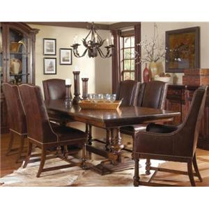 Markor Furniture Riverside 7-Piece Trestle Dining Room Set