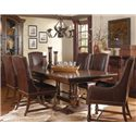 A.R.T. Furniture Inc Whiskey Oak 7-Piece Trestle Dining Room Set - Item Number: 205221-2304+2x205201+2x205200